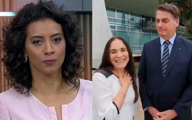 Aline Midlej, Regina Duarte e Bolsonaro