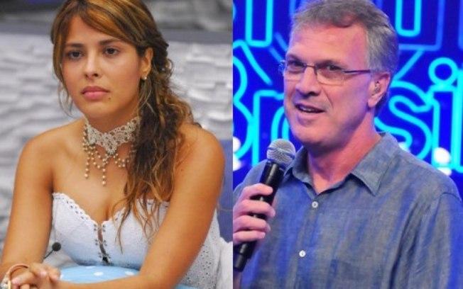Gyselle Soares e Pedro Bial