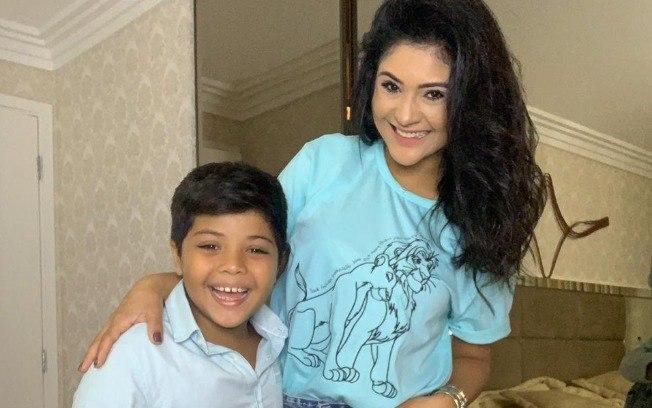 Mileide Mihaile e o filho