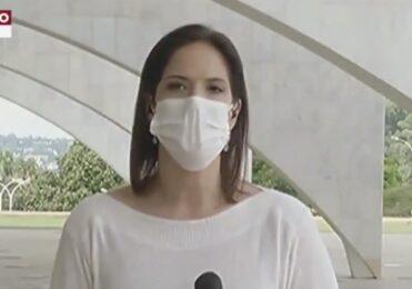 Repórter leva bandeirada em manifestação pró-Bolsonaro – TV & Novelas – iG