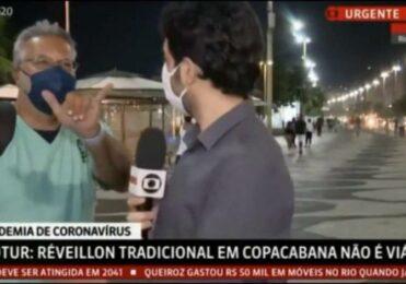 """Homem INVADE Reportagem ao vivo da GloboNews e GRITA """"Globolixo"""""""