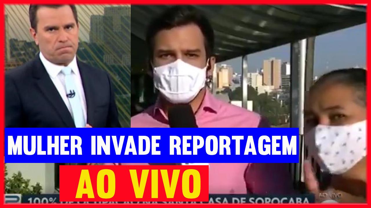 Mulher-invade-reportagem-ao-vivo-no-Bom-Dia-SP-e-IRRITA-Rodrigo-Bocardi