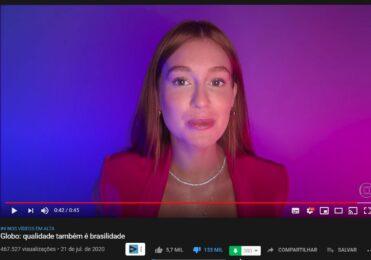 Rede Globo Recebe CHUVA DE DISLIKES em vídeo institucional no Youtube com Vários artistas