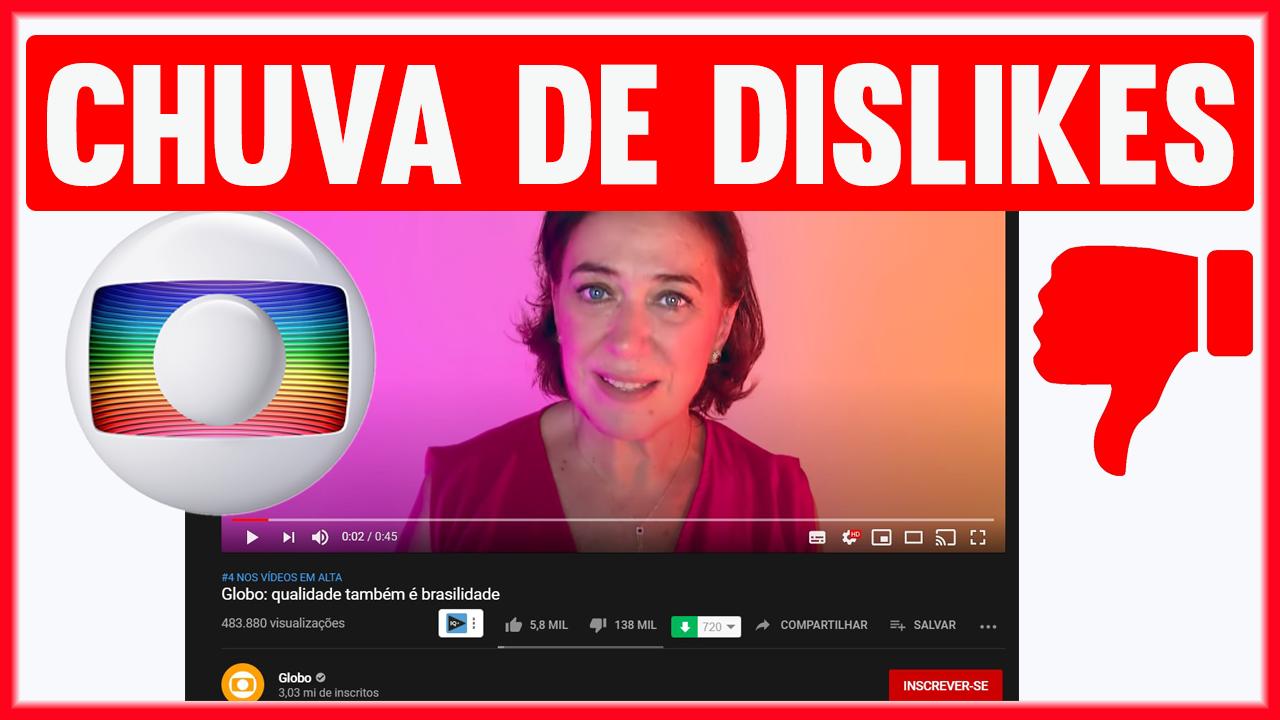 Rede-Globo-Recebe-CHUVA-DE-DISLIKES-em-vídeo-institucional-no-Youtube-com-Vários-artistas