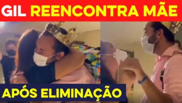 Gilberto se EMOCIONA ao reencontrar sua mãe após sua ELIMINAÇÃO, Confira o vídeo!!